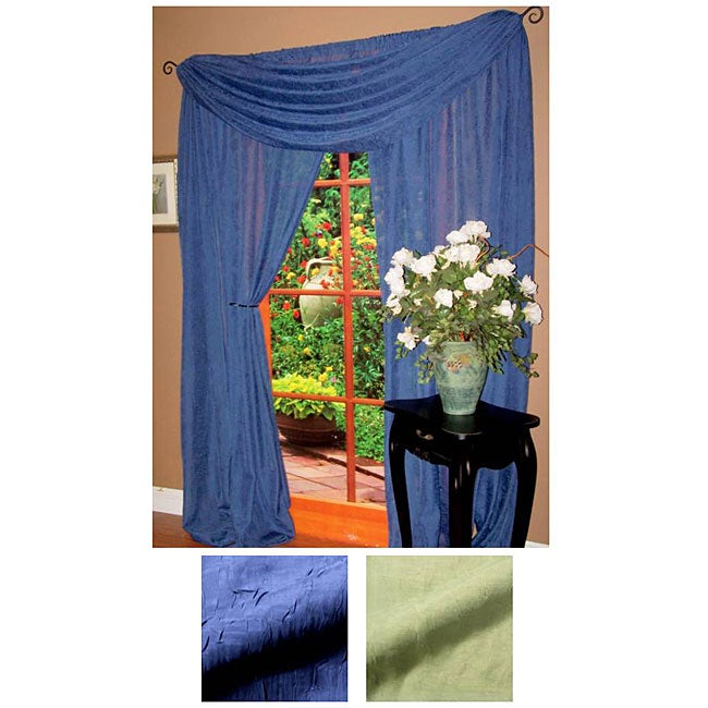 Crushed Voile Window Scarf (52 in. x 216 in.)