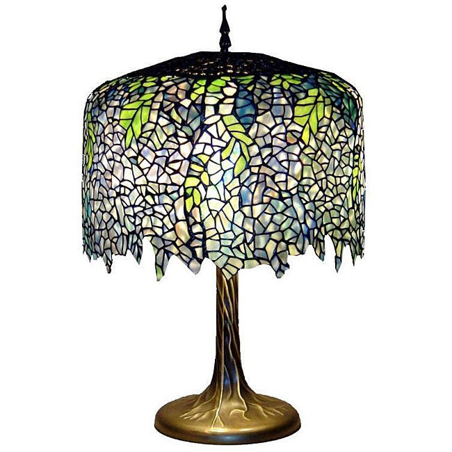 Tiffany-style Wisteria Table Lamp