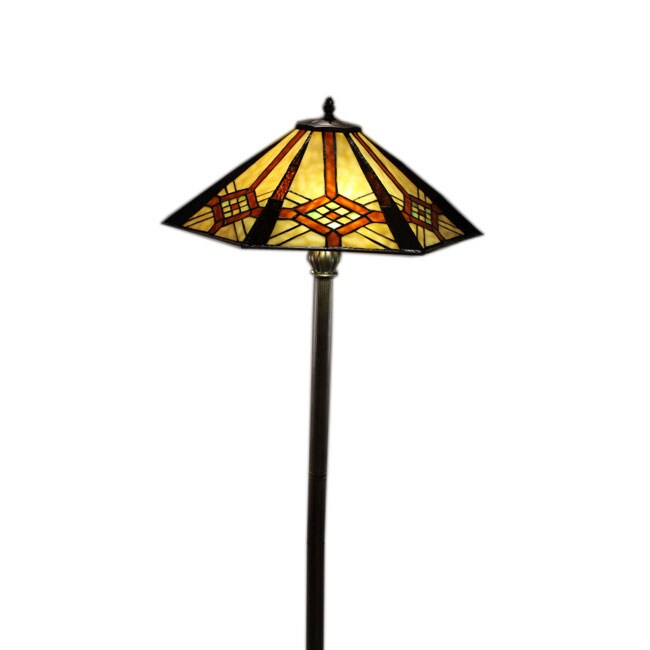 Tiffany-style Octigon Floor Lamp
