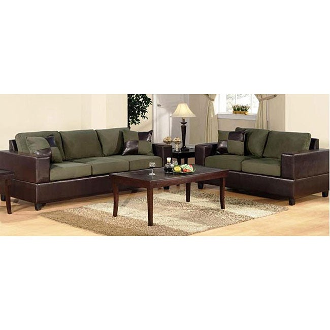Milano 5 piece sage living room set 12067791 overstock for 5 piece living room packages