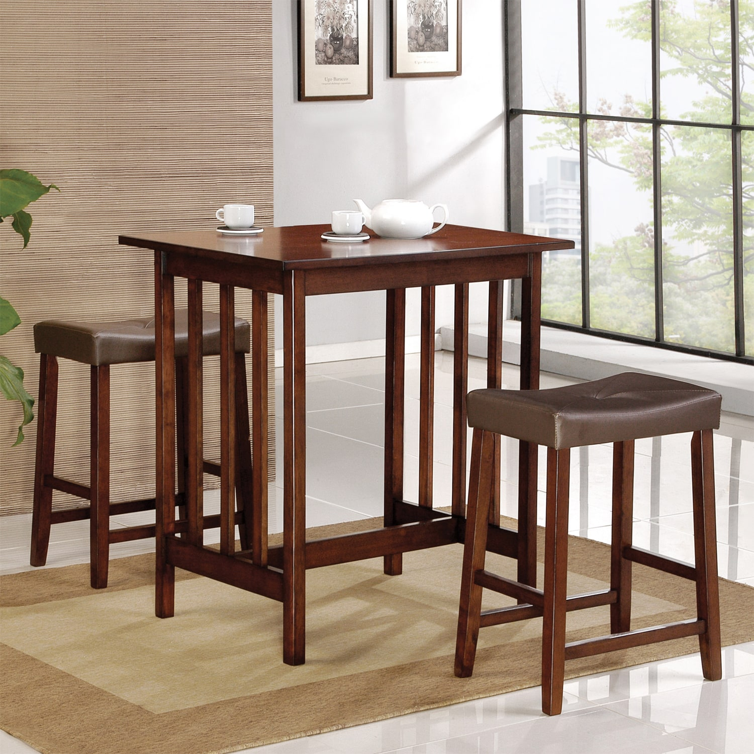 AT HOME by O ETHAN HOME Nova Cherry 3-piece Kitchen Counter Height Dining Set at Sears.com