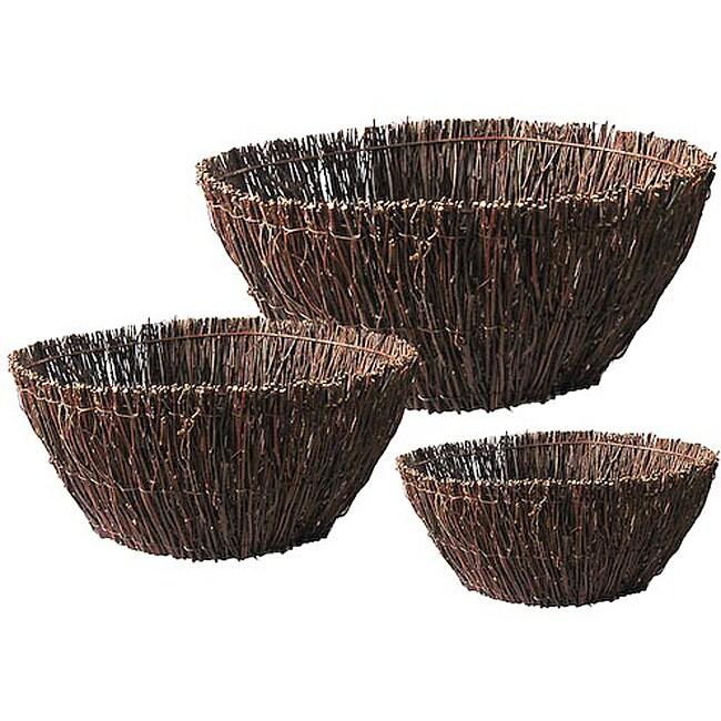 Birch Twig 3-piece Basket Set