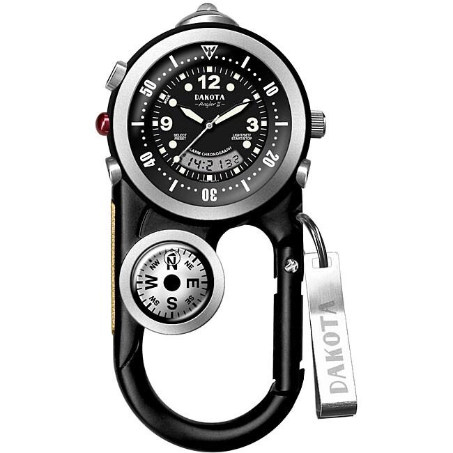 Dakota Men's Angler Black Carabiner Clip Watch