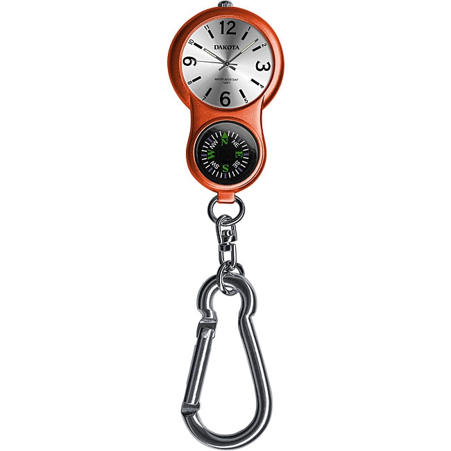 Eziba Collection Dakota Women's Carabiner E-clip Orange Watch at Sears.com
