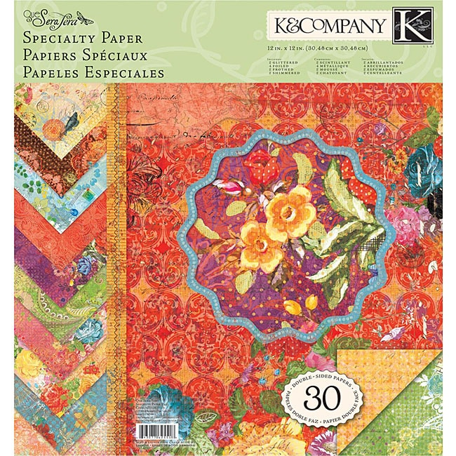 K & Company 'Quel Sera Sera' 12x12 Specialty Paper (Pack of 30)