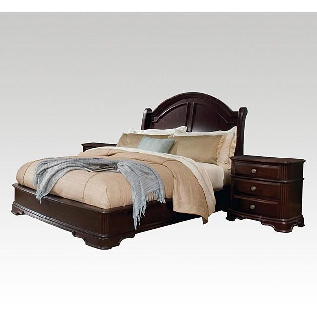 Dupioni Queen Bed with 2 Nightstands