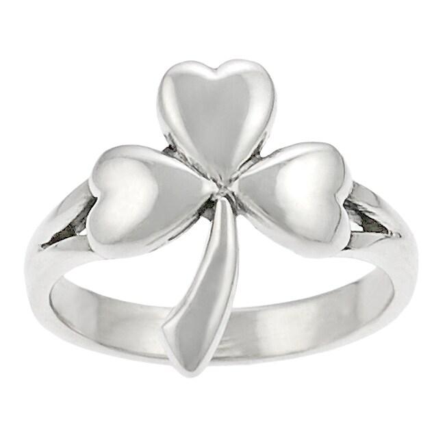 Tressa Sterling Silver Shamrock Ring