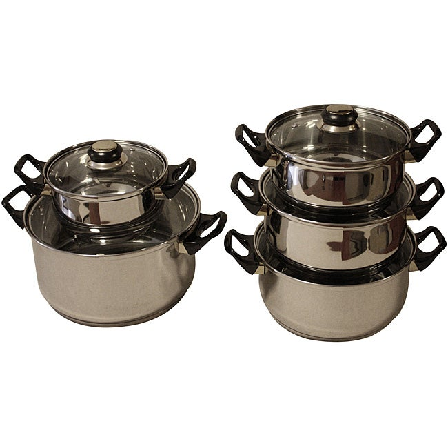 Chef's Choice 10-piece 18/10 Stainless Steel Cookware Set
