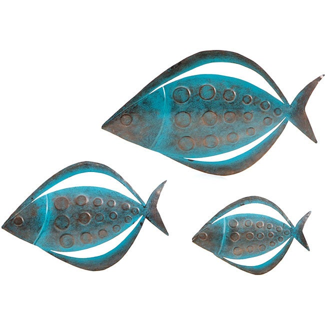Fish Wall Art (Pack of 3)