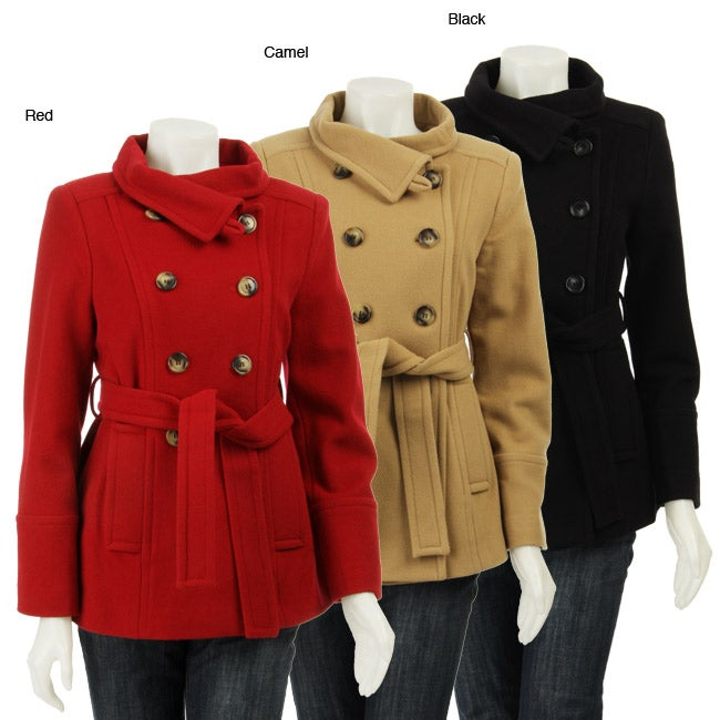 Anne Klein Womens Double breasted Short Coat