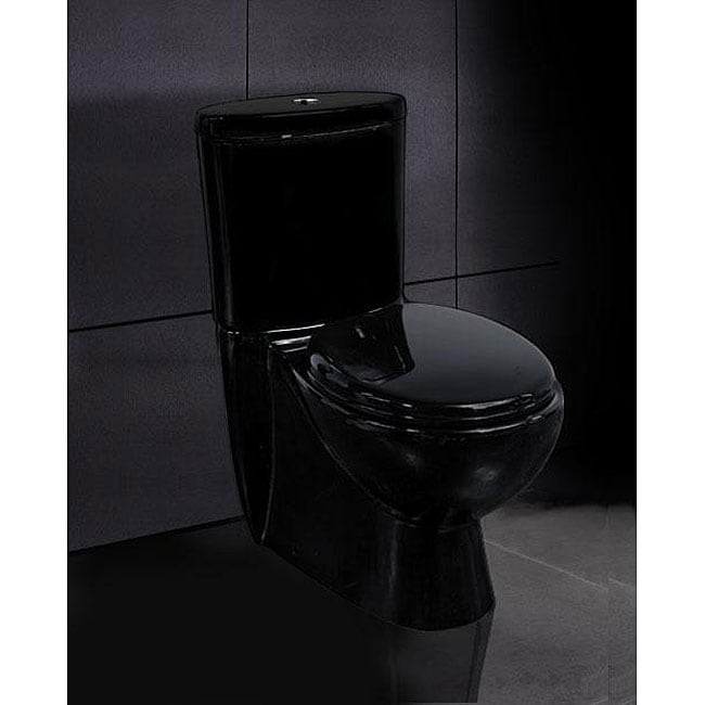 Ariel 'Opal' 2-piece Dual Flush Black Toilet