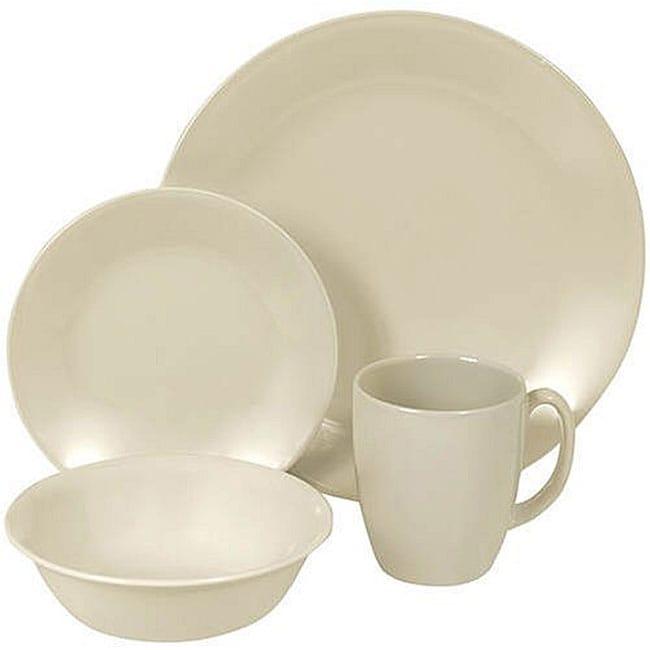 Corelle Livingware Sandstone 16-piece Dinnerware Set