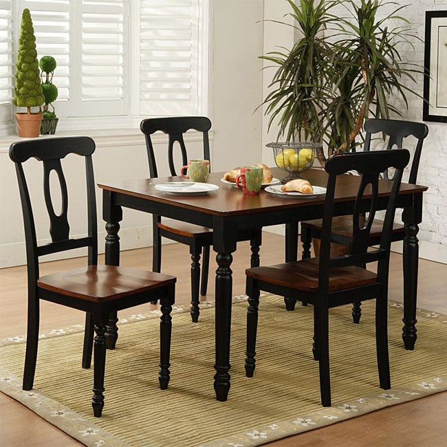 Monica 5-piece Black Dinette Set