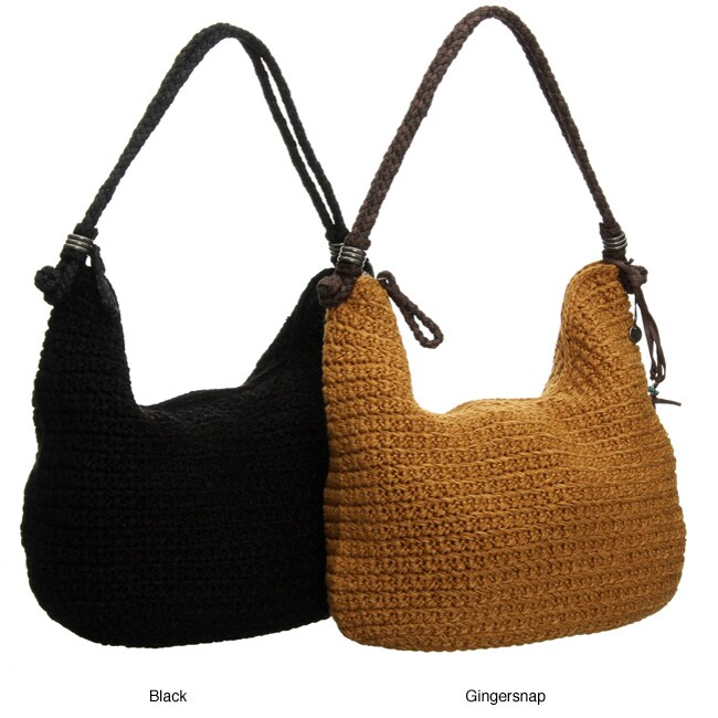 The Sak Indio Crochet Hobo Bag - 12116675 - Overstock.com Shopping ...