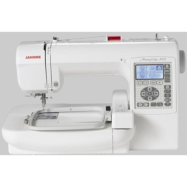 Janome memory craft 200e embroidery machine new for Janome memory craft 200e