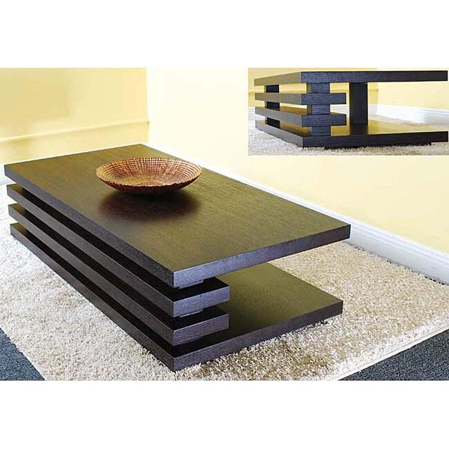 Versa contemporary coffee table 12119767 for Furniture of america architectural inspired dark espresso coffee table