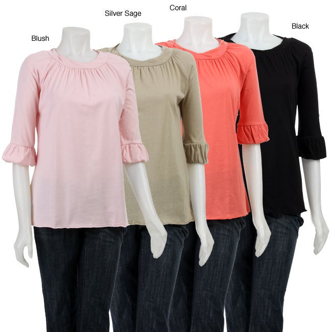 AtoZ Women's Rolled Neck Top