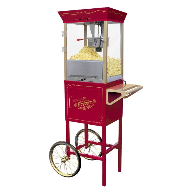 Nostalgia Electrics CCP-509 Vintage Red Popcorn Cart