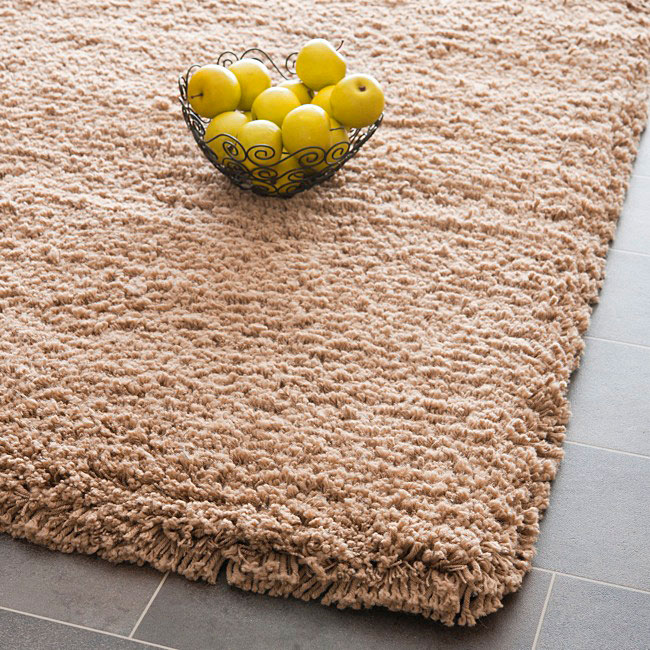 AT HOME by O Plush Super Dense Hand-woven Taupe Premium Shag Rug (4' x 6') at Sears.com