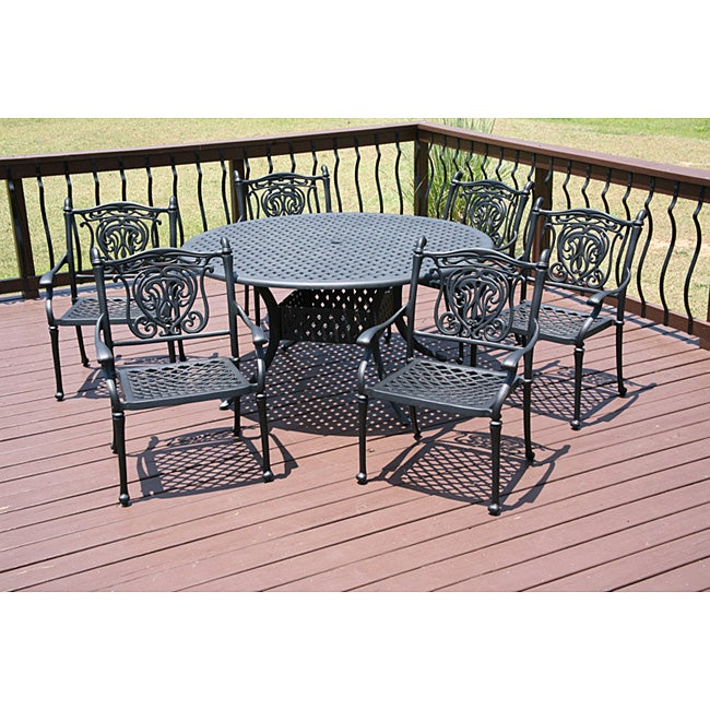 Tuscan 7 Piece Patio Furniture Set 12131682 Overstock