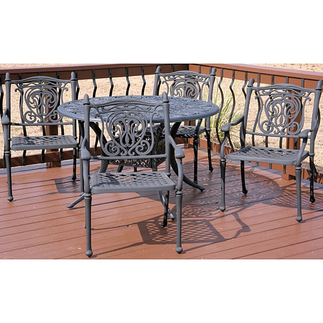 Tuscan 5 piece All welded Patio Furniture Set Overstock Shop
