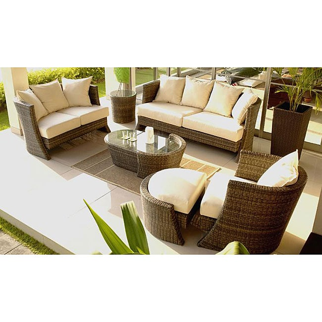 Soho Five piece Wicker Patio Furniture Set Overstock Shoppin