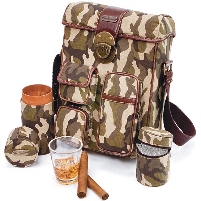 Max Benjamin Camo Canvas Mini Cigar Bar