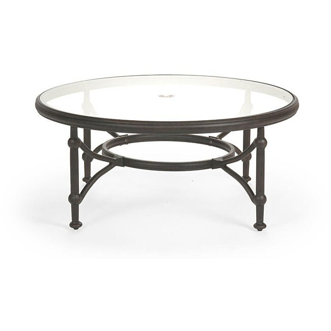 Santorini round glass top coffee table 12135961 overstock com