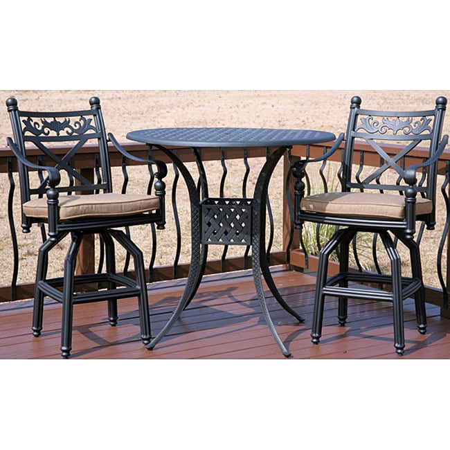 Bar height 3 piece Patio Furniture Set Overstock Shopping