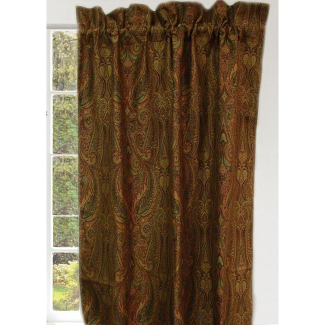 Lush Decor Floral Paisley Room Darkening 84-Inch Curtain Panel Pair