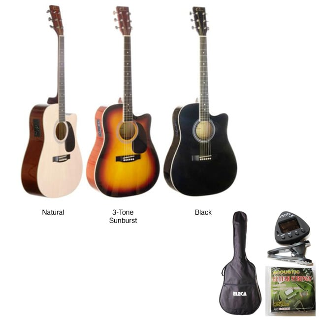Acoustic Electric Guitar and Tuner Pack