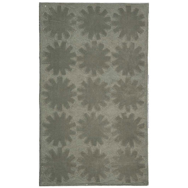 Martha Stewart Astronomy Mercury Grey Cotton Rug (2'6 x 4'3)