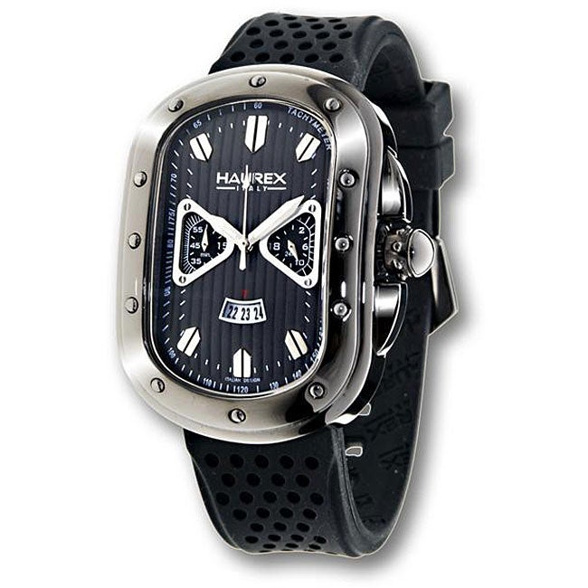Haurex italy men 39 s ricurvo titanium tone watch 12143456 shopping big for Haurex watches