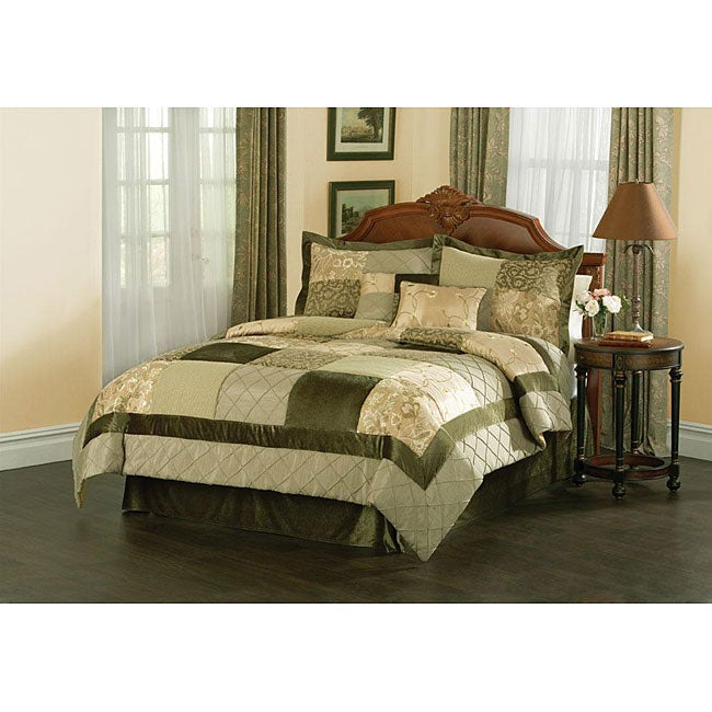 Green Garden Handcrafted 8-piece Comforter Set