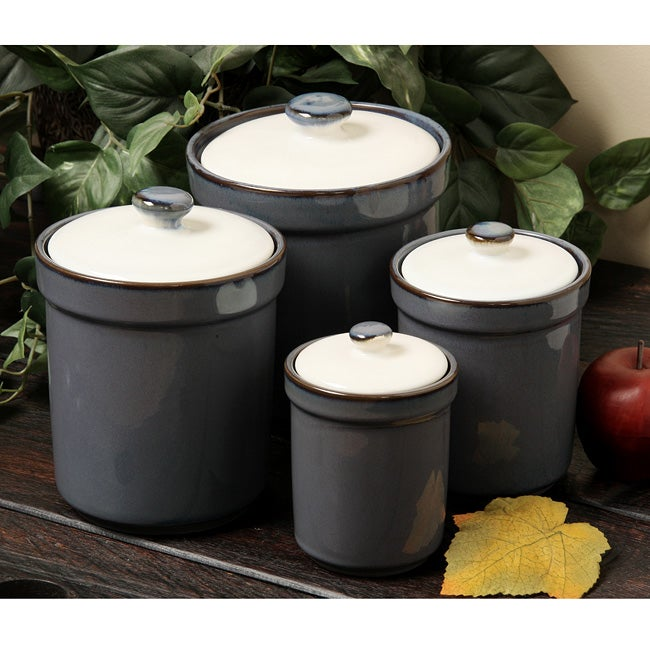 Sango Concepts Eggplant Four-piece Canister Set