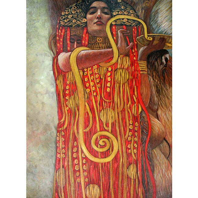 Klimt Medicine Gustav klimt 'hygieia (detail from medicine)' canvas ...