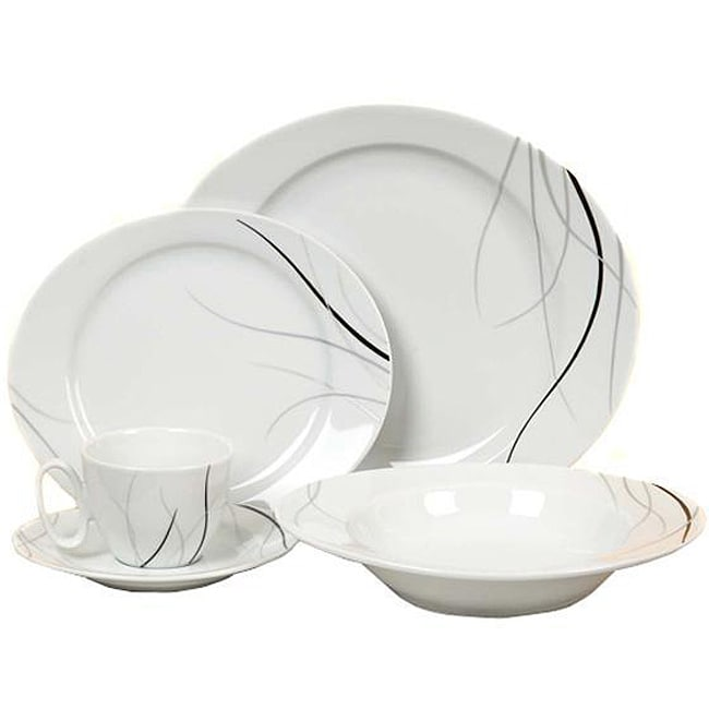 Ritz Black and White 20-piece Dinnerware Set (Service for Four)