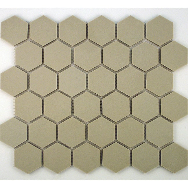 SomerTile 12x10.5-in New York 2-in Hex Unglazed Porcelain Mosaic Tile (Pack of 10)