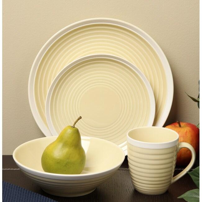 Sango 16-piece Rio Yellow Dinnerware Set