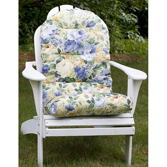 outdoor blue floral adirondack chair cushion 12216319 shopping big discounts. Black Bedroom Furniture Sets. Home Design Ideas