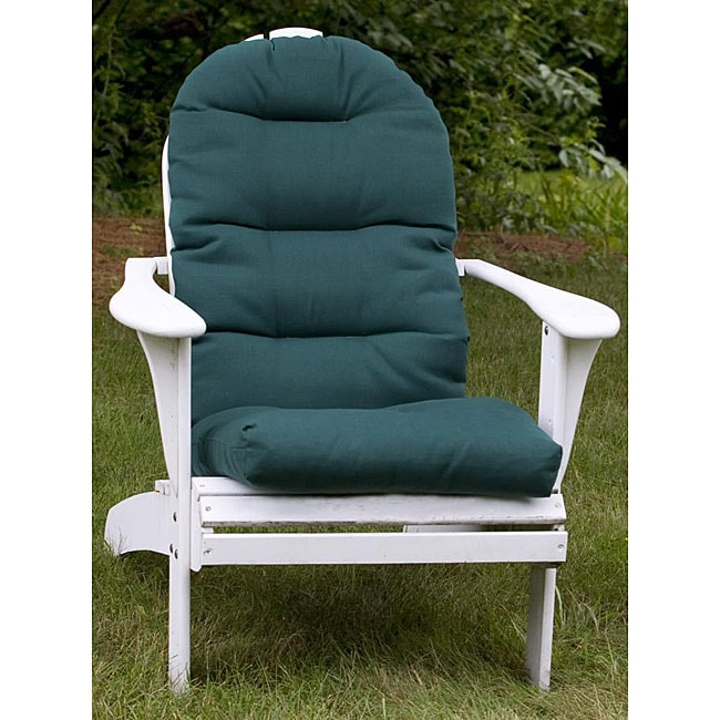 adirondack forest green outdoor chair cushion 12216324 overstock