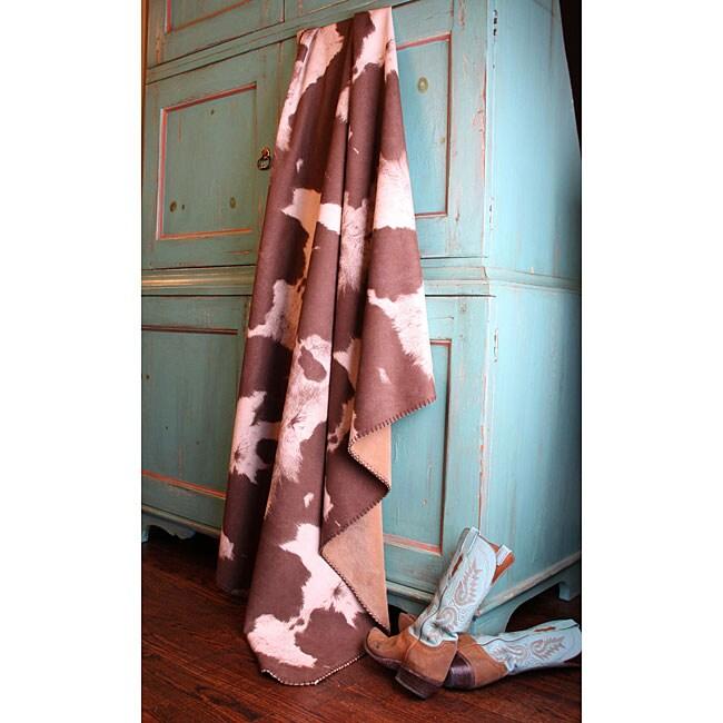Faux Cowhide Throw Blanket