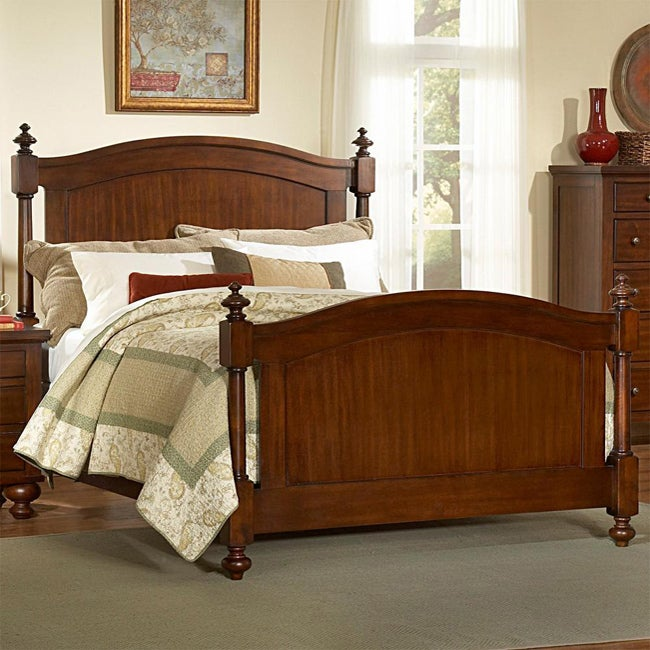 TRIBECCA HOME Amherst Classic Warm Brown Cherry King-size Bed