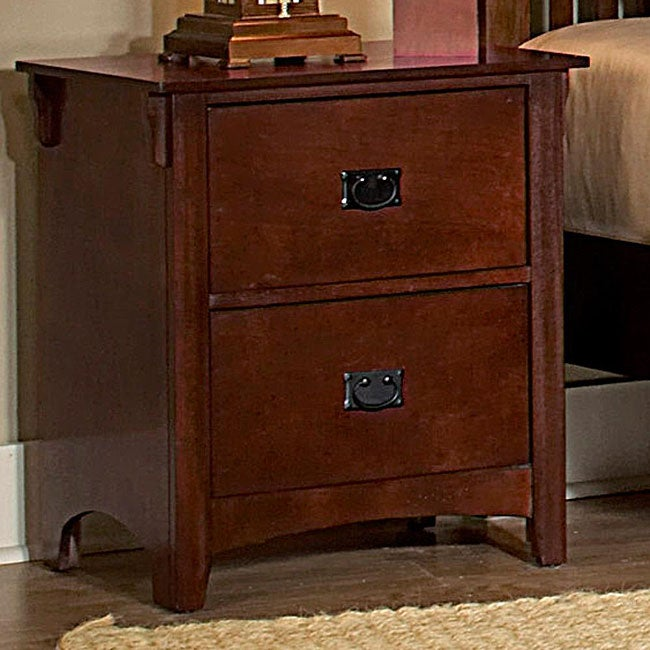 Mission Valley Traditional Cherry 2-drawer Nightstand Set