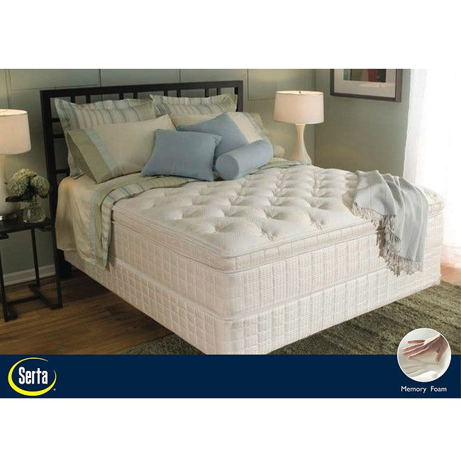 serta abercorn euro top cal king mattress and box spring set 12219505 shopping. Black Bedroom Furniture Sets. Home Design Ideas