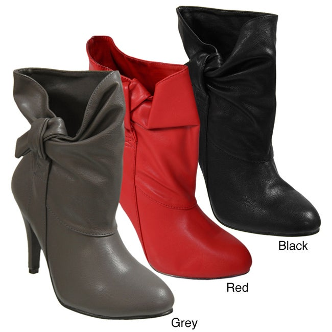Glaze by Adi High-heel Side Knot Accent Boots