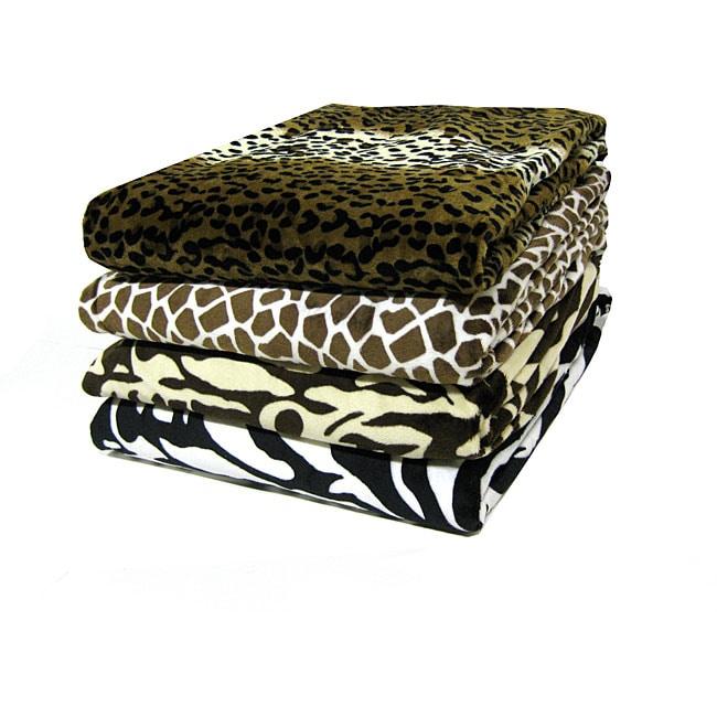 Plush Animal Print Throw Blanket (50 in. x 60 in.)