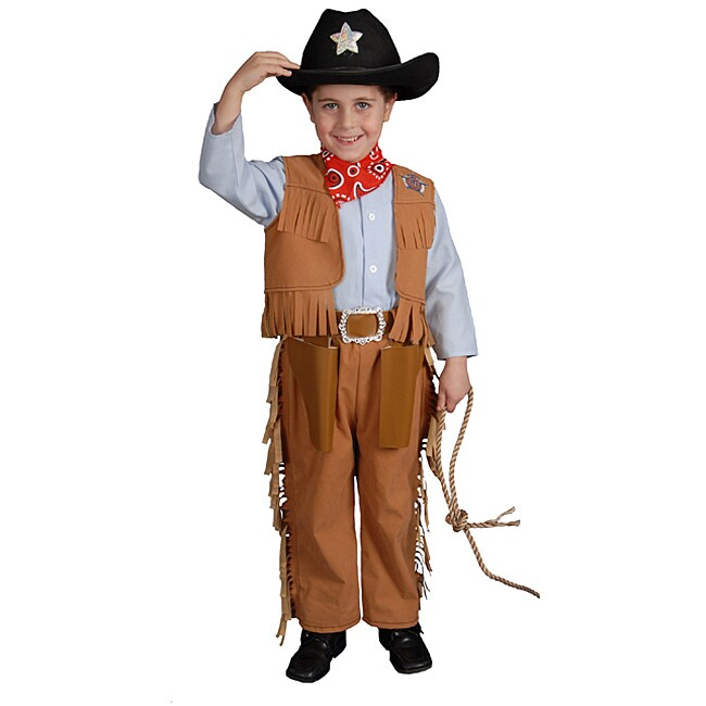 Dress Up America Classic Junior Polyester Cowboy Costume with Holster