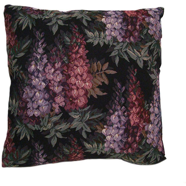 Wisteria 16-inch Black Throw Pillows (Set of 2)