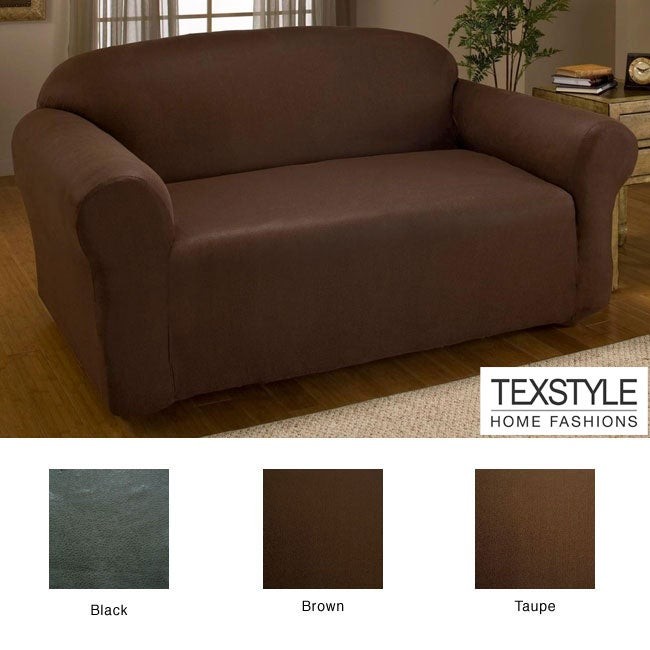 texstyle stretch microfiber faux leather one piece sofa